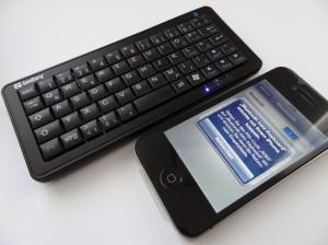 Klein und praktisch: Die Sandberg Bluetooth Tastatur für Smartphone, Tablet oder HTPC